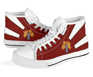 "VAQ-136 ""The Gauntlets"" Inspired Men's High Top Canvas Shoes - I Love a Hangar"
