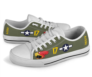 "P-40N Warhawk ""Parrot Head"" Inspired Men's Low Top Canvas Shoes - I Love a Hangar"