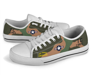 "Douglas A-1 Skyraider ""The Proud American"" Men's Low Top Canvas Shoes - I Love a Hangar"