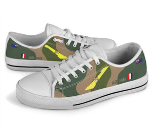 RAAF 1 Squadron F-111 Inspired Men's Low Top Canvas Shoes - I Love a Hangar