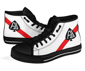 VF-41 Black Aces Inspired Women's High Top Canvas Shoes - I Love a Hangar