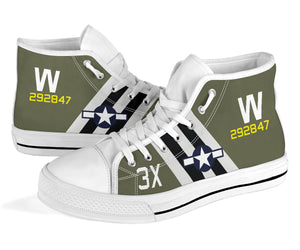 "C-47 ""That's All, Brother"" Inspired Men's High Top Canvas Shoes - I Love a Hangar"