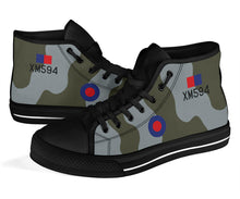 Load image into Gallery viewer, RAF Avro Vulcan XM594 Inspired Women's High Top Canvas Shoes - I Love a Hangar