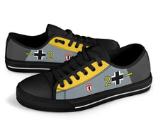 Load image into Gallery viewer, Messerschmitt Bf-109 Inspired Men's Low Top Canvas Shoes - I Love a Hangar