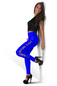Remove Before Flight Leggings - Dark Blue - I Love a Hangar