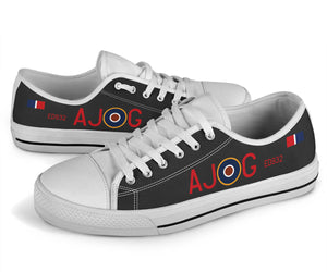 "Lancaster ""AJ-G"" Inspired Men's Low Top Canvas Shoes - I Love a Hangar"