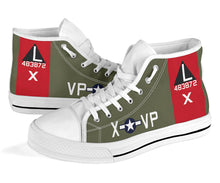 "Load image into Gallery viewer, B-17G ""Texas Raiders"" Inspired Men's High Top Canvas Shoes - I Love a Hangar"