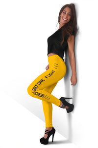 Remove Before Flight Leggings - Orange - I Love a Hangar