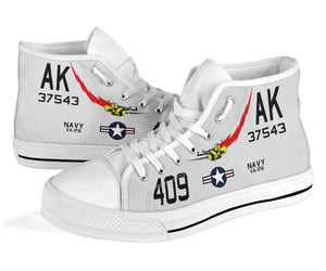 "VA-176 ""Thunderbolts"" Inspired Men's High Top Canvas Shoes - I Love a Hangar"