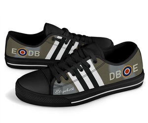 "Spitfire NH341 ""Elizabeth"" Inspired Women's Low Top Canvas Shoes - I Love a Hangar"