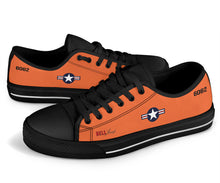 "Load image into Gallery viewer, Bell X-1 ""Glamorous Glennis"" Inspired Men's Low Top Canvas Shoes - I Love a Hangar"