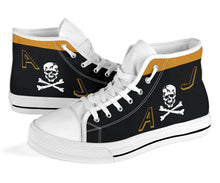 "Load image into Gallery viewer, VF-84 ""Jolly Rogers"" Inspired Women's High Top Canvas Shoes - I Love a Hangar"