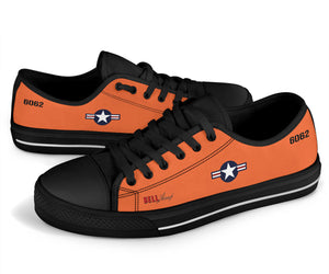 "Bell X-1 ""Glamorous Glennis"" Inspired Women's Low Top Canvas Shoes - I Love a Hangar"