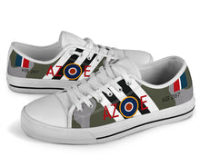 Load image into Gallery viewer, DH.98 Mosquito of Guy Gibson Inspired Women's Low Top Canvas Shoes - I Love a Hangar
