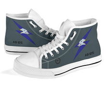 Load image into Gallery viewer, RAAF 6 Squadron F-111C Inspired Men's High Top Canvas Shoes - I Love a Hangar