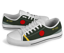 Load image into Gallery viewer, Mitsubishi A6M5 Zero Inspired Men's Low Top Canvas Shoes - I Love a Hangar