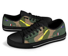 Load image into Gallery viewer, RAAF 1 Squadron F-111 Inspired Men's Low Top Canvas Shoes - I Love a Hangar