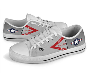"F-4J ""Showtime 100"" Inspired Men's Low Top Canvas Shoes - I Love a Hangar"