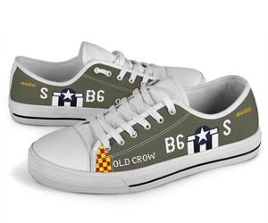 "P-51 ""Old Crow"" Inspired Men's Low Top Canvas Shoes - I Love a Hangar"