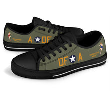"Load image into Gallery viewer, B-17F ""Memphis Belle"" Inspired Men's Low Top Canvas Shoes - I Love a Hangar"