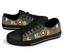 "Load image into Gallery viewer, Spitfire ""Kiwi III"" KL-B Inspired Women's Low Top Canvas Shoes - I Love a Hangar"