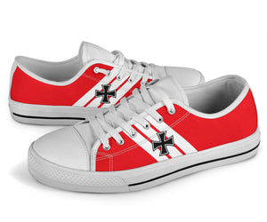 "Fokker Dr.I ""Red Baron"" Inspired Women's Low Top Canvas Shoes - I Love a Hangar"