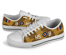 "Load image into Gallery viewer, P-40N of James ""Stocky"" Edwards Inspired Men's Low Top Canvas Shoes - I Love a Hangar"