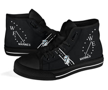 Load image into Gallery viewer, VMA-214 Black Sheep Inspired Women's High Top Canvas Shoes - I Love a Hangar