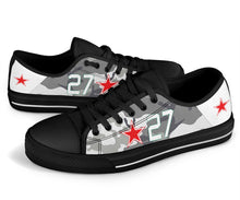 "Load image into Gallery viewer, Lavochkin La-7 ""White 27"" Inspired Men's Low Top Canvas Shoes - I Love a Hangar"