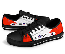 Load image into Gallery viewer, RCAF Avro Canada CF-105 Arrow #203 Inspired Women's Low Top Canvas Shoes - I Love a Hangar