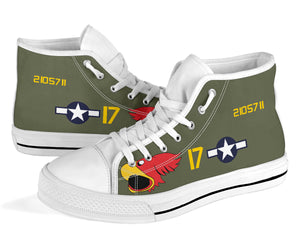 "P-40N Warhawk ""Parrot Head"" Inspired Women's High Top Canvas Shoes - I Love a Hangar"