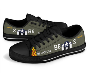 "P-51 ""Old Crow"" Inspired Women's Low Top Canvas Shoes - I Love a Hangar"