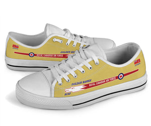 "Canadair Sabre ""Golden Hawks"" Inspired Women's Low Top Canvas Shoes - I Love a Hangar"