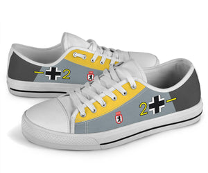 Messerschmitt Bf-109 Inspired Men's Low Top Canvas Shoes - I Love a Hangar