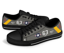 "Load image into Gallery viewer, SH-3A Sea King HS-3 ""Tridents"" Inspired Men's Low Top Canvas Shoes - I Love a Hangar"