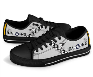 "T-6D Texan ""Hog Wild Gunner"" Inspired Women's Low Top Canvas Shoes - I Love a Hangar"