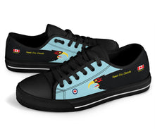 "Load image into Gallery viewer, ""Hawk One Canada"" of 409 SQN Inspired Women's Low Top Canvas Shoes - I Love a Hangar"