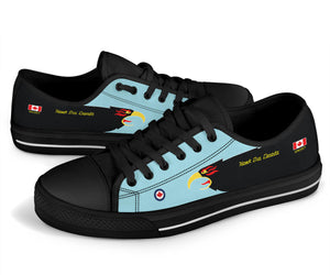 """Hawk One Canada"" of 409 SQN Inspired Women's Low Top Canvas Shoes - I Love a Hangar"