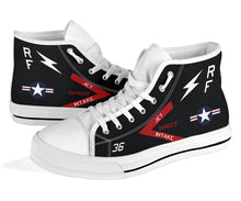 Load image into Gallery viewer, VMFP-3 RF-4B Inspired Men's High Top Canvas Shoes - I Love a Hangar