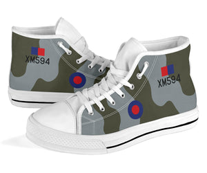 RAF Avro Vulcan XM594 Inspired Men's High Top Canvas Shoes - I Love a Hangar