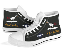 "Load image into Gallery viewer, B-29 ""Kee Bird"" Inspired Women's High Top Canvas Shoes - I Love a Hangar"