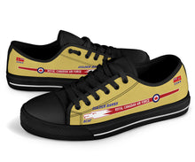 "Load image into Gallery viewer, Canadair Sabre ""Golden Hawks"" Inspired Men's Low Top Canvas Shoes - I Love a Hangar"