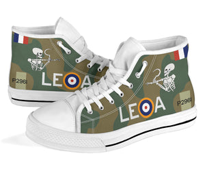 "Hawker Hurricane of ""Willie"" McKnight Inspired Men's High Top Canvas Shoes - I Love a Hangar"