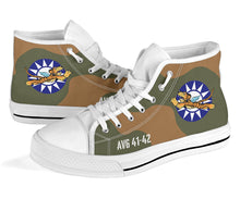 "Load image into Gallery viewer, AVG ""Flying Tigers"" Inspired Men's High Top Canvas Shoes - I Love a Hangar"