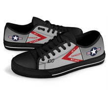 "Load image into Gallery viewer, F-4J ""Showtime 100"" Inspired Women's Low Top Canvas Shoes - I Love a Hangar"