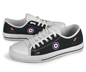 """Black Arrows"" Hawker Hunter XG194 Inspired Men's Low Top Canvas Shoes - I Love a Hangar"
