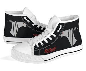 "VAQ-141 ""Shadowhawks"" Inspired Men's High Top Canvas Shoes - I Love a Hangar"