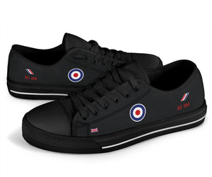"""Black Arrows"" Hawker Hunter XG194 Inspired Women's Low Top Canvas Shoes"