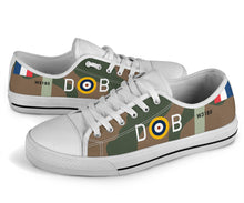 Load image into Gallery viewer, Spitfire Mk.Va of Douglas Bader Inspired Men's Low Top Canvas Shoes - I Love a Hangar
