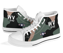 Load image into Gallery viewer, C-123K Provider of Joe Jackson Inspired Women's High Top Canvas Shoes - I Love a Hangar